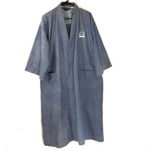 Christian dior 100% cotton mens blue robe one size